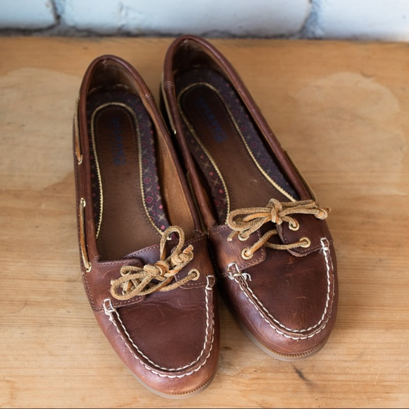 b66b012f96 Sperry Top-Sider Audrey Leather Boat Shoe 8.5. M 5b6b69417386bca4e955489c